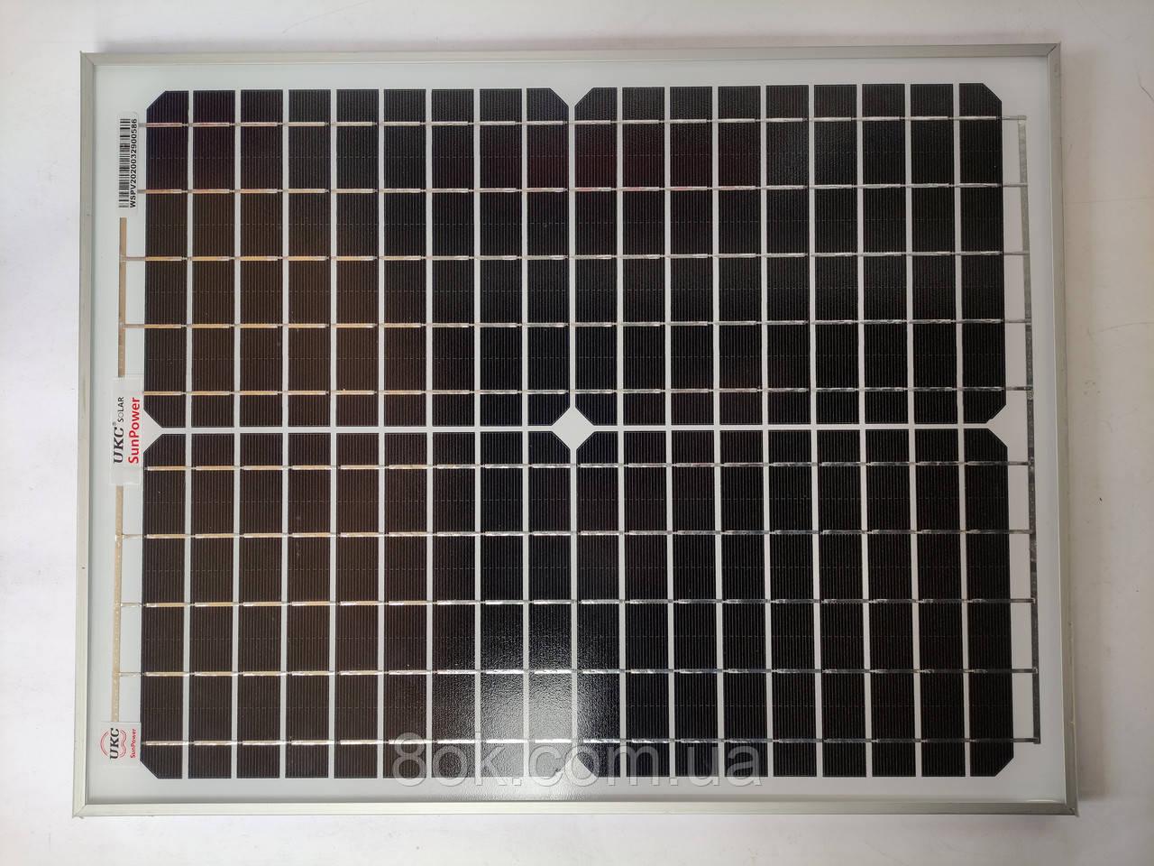 Солнечная панель батарея UKC 20W 18V