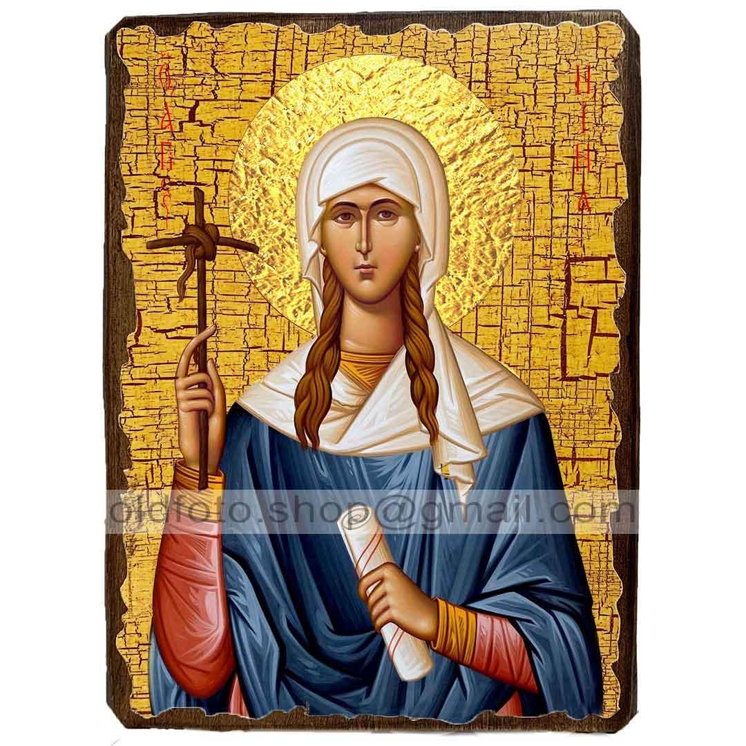 Ікона Ніна, Просвітителька Грузії Рівноапостольна ,ікона на дереві 130х170 мм