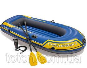 Човен надувна для двох 236 х 114 см, (весла, ручний насос). 3-х камерна . Intex 68367