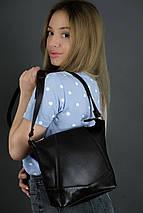Жіноча шкіряна сумка Діамант, натуральна Гладка шкіра, колір коричневый, відтінок Шоколад, фото 2