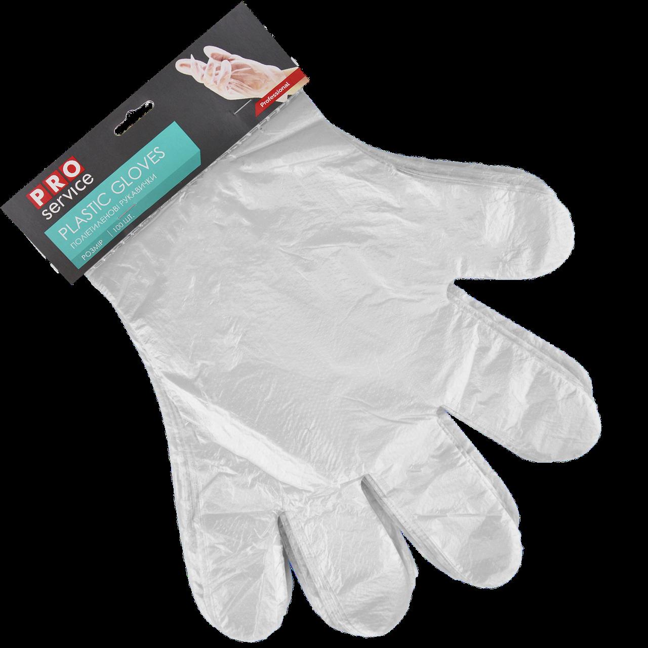 Перчатки полиэтиленовые отрывные на картоне 100шт