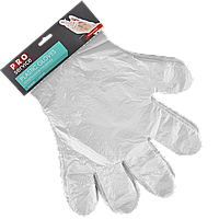Перчатки полиэтиленовые отрывные на картоне 100шт, фото 1