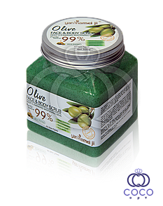 Сольовий скраб для обличчя і тіла Olive Face & Body Scrub 99% 500 G