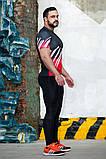 Рашгард мужской с коротким рукавом Totalfit RMS317 XXL Красный с черным, фото 3