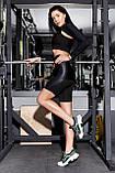 Шорты с юбкой TOTALFIT FLASH-SKIRT HW19-C25 L Черный, фото 3