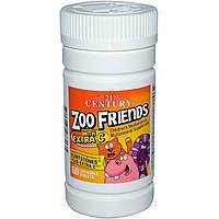Витамины и минералы  ZooFriends для детей с витамином С, 21st Century Health Care, 60 жев. таб.