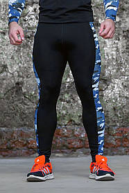 Тайтсы мужские Totalfit G4-P41 XXL черный с синим