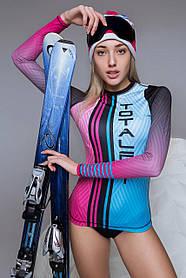 Жіночий термо рашгард TOTALFIT TRW51-P83 XS Блакитний, Рожевий