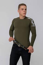 Рашгард з довгим рукавом Totalfit RMK4-C36 3XL брудно-зелений