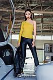 Женский рашгард на одну руку Totalfit RWK91-C1 XS Желтый, фото 4