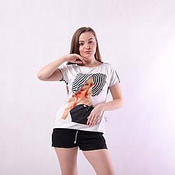 Асиметрична жіноча трикотажна футболка ТІЛЬКИ 40 Р