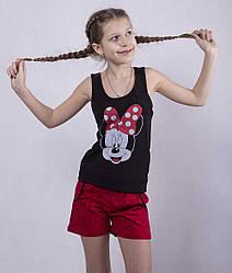 """Підліткова піжама майка з шортами """"Minnie"""" р. 36 та 38"""