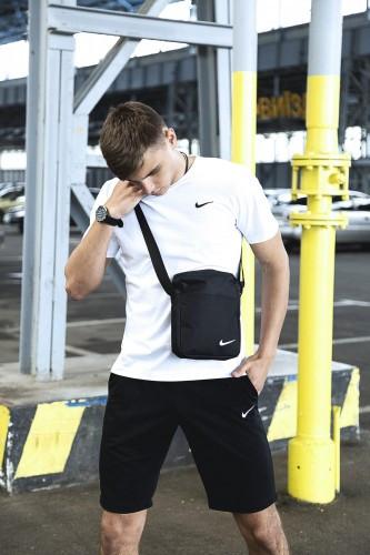 Мужская футболка шорты, спортивный костюм мужской летний Nike + барсетка