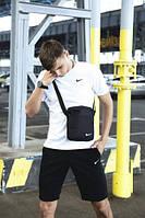 Мужская футболка шорты, спортивный костюм мужской летний Nike + барсетка, фото 1