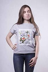 "Женская молодежная  футболка "" Butterfly""  р. 42-50"