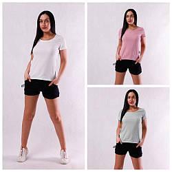 Женская летняя футболка рубчик  42-54р.