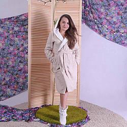 """Женский махровый хлопковый халат """"cotton lux"""" 42-50 р."""