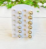 Сережки гвоздики Диорики ( золото, срібло)