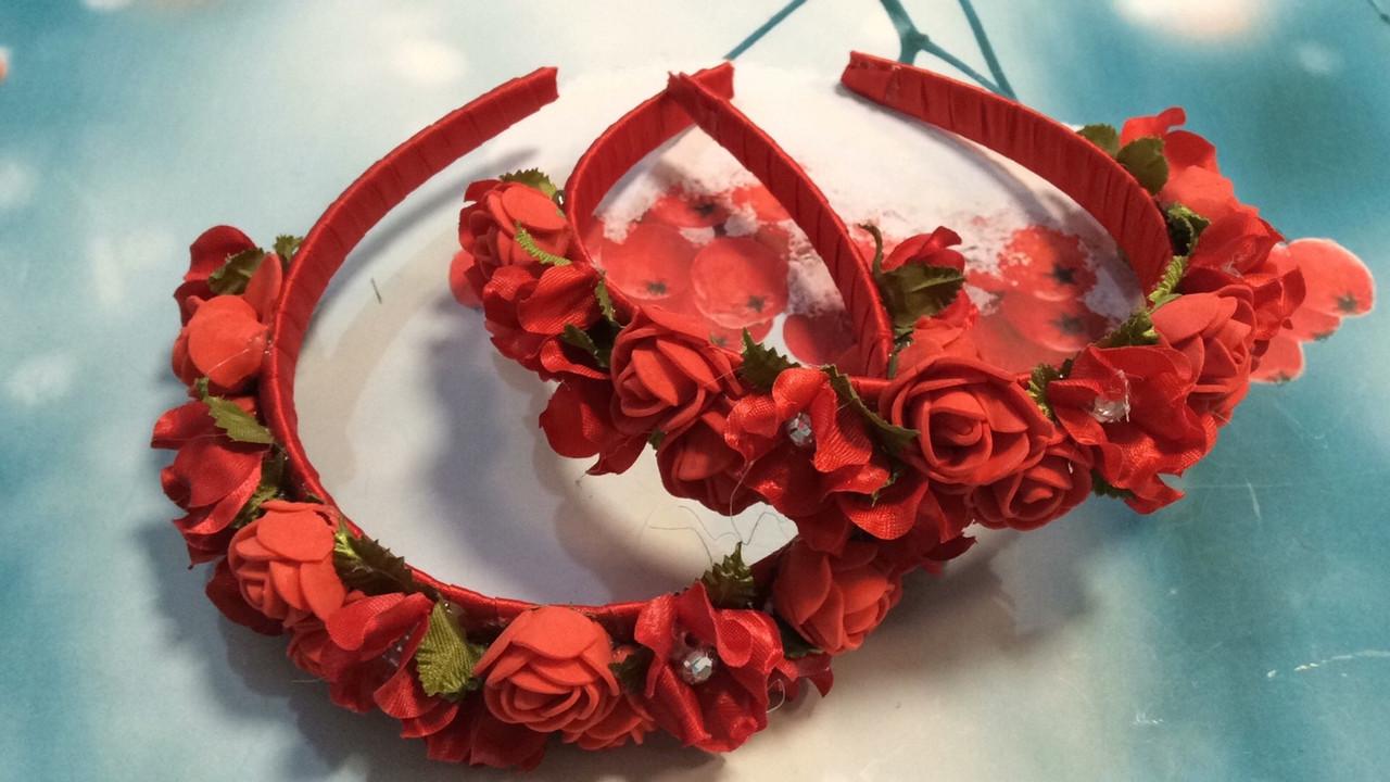 Обруч Розы красные