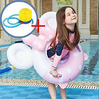 Комплект Надувной круг для детей + насос ножной (КНД-2-1+ВН-2)