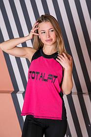 Майка Totalfit MW6-C3 M Черный, Малиновый