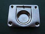 Нержавіюче підйомне кільце для пайол 76х57 мм, фото 3
