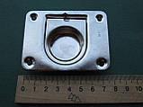 Нержавіюче підйомне кільце для пайол 76х57 мм, фото 5