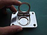 Нержавіюче підйомне кільце для пайол 76х57 мм, фото 2