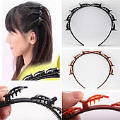 Обідок, обруч з кліпсами для створення зачісок