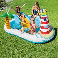 Надувний ігровий центр-басейн Intex 57162 Весела Риболовля, для дачі, пляжу, літа