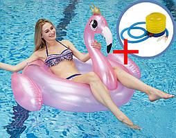 Комплект Надувной круг Фламинго + насос ножной (КНД-3+ВН-2)