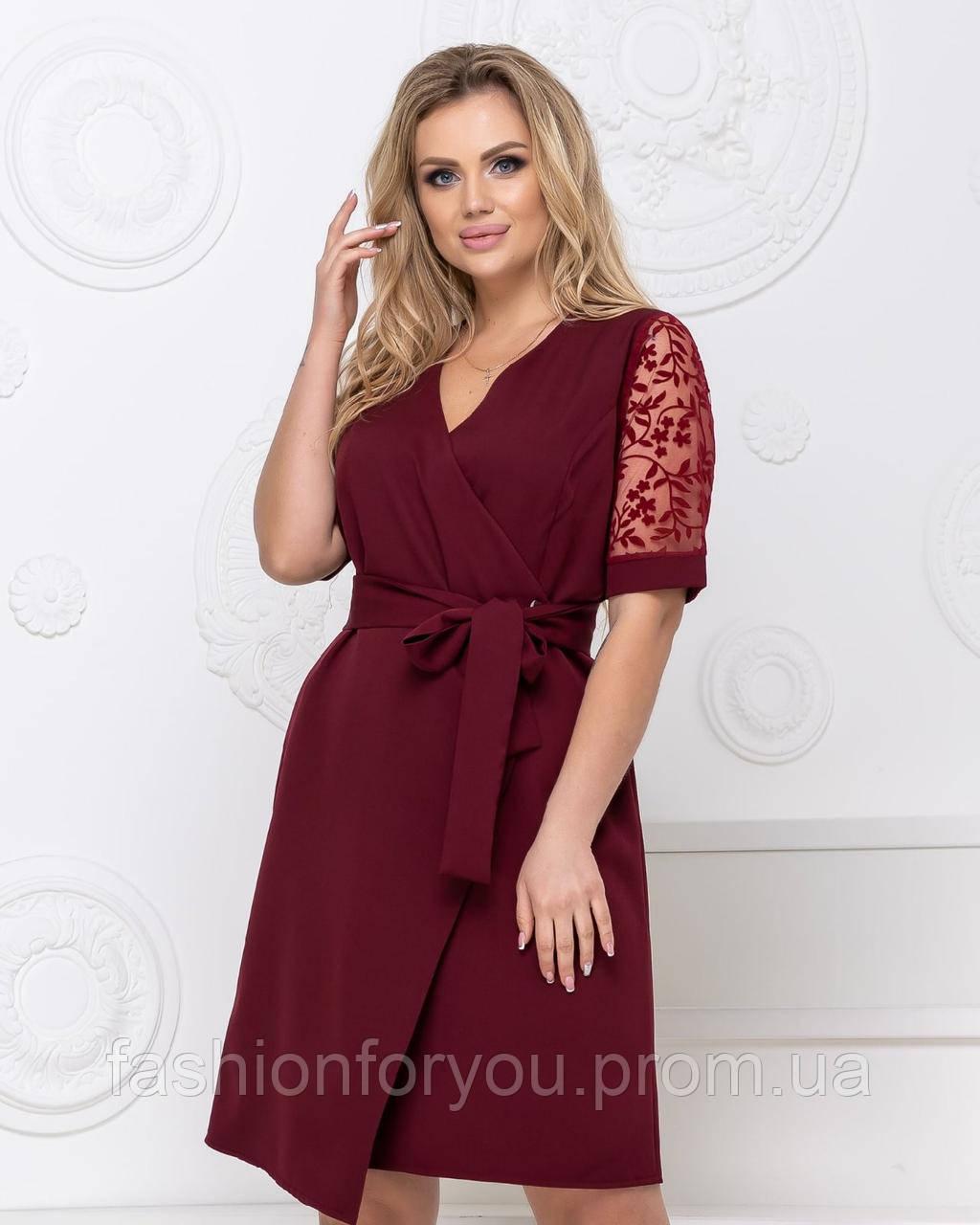 Красивое женское платье на запах Мод.7087