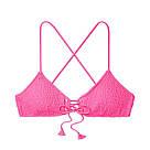 Купальник з топом Victoria's Secret Alona Smocked, Яскраво-рожевий, фото 3