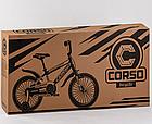 Дитячий велосипед, 20 дюймові колеса, сталеві диски з посиленою спицею, сталева рама, Corso ST-20363, фото 4
