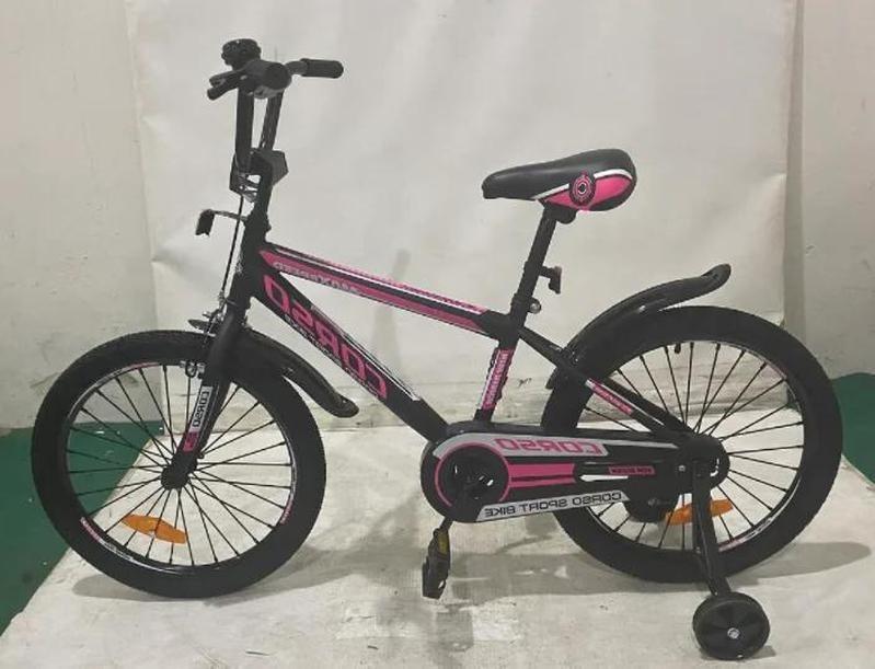 Дитячий велосипед, 20 дюймові колеса, сталеві диски з посиленою спицею, сталева рама, Corso ST-20566