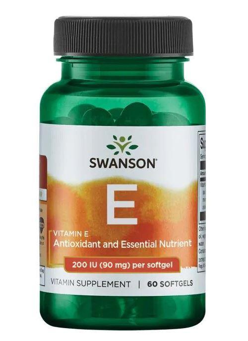 SwansonVitamin E 200 IU (90 mg), Витамин Е (60 капс.)