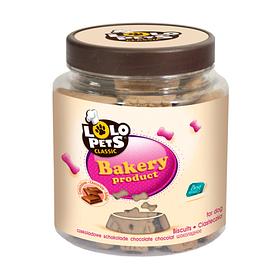 Банка косточки шоколадные для собак 210г S Lolopets 80603