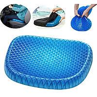 Ортопедическая гелевая подушка на стул Egg Sitter 39х32 см черная, подушка для стула, подушка для стільця