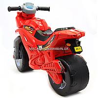 Детский Мотоцикл толокар Орион музыкальный (красный). Популярный транспорт для детей от 2х лет, фото 3