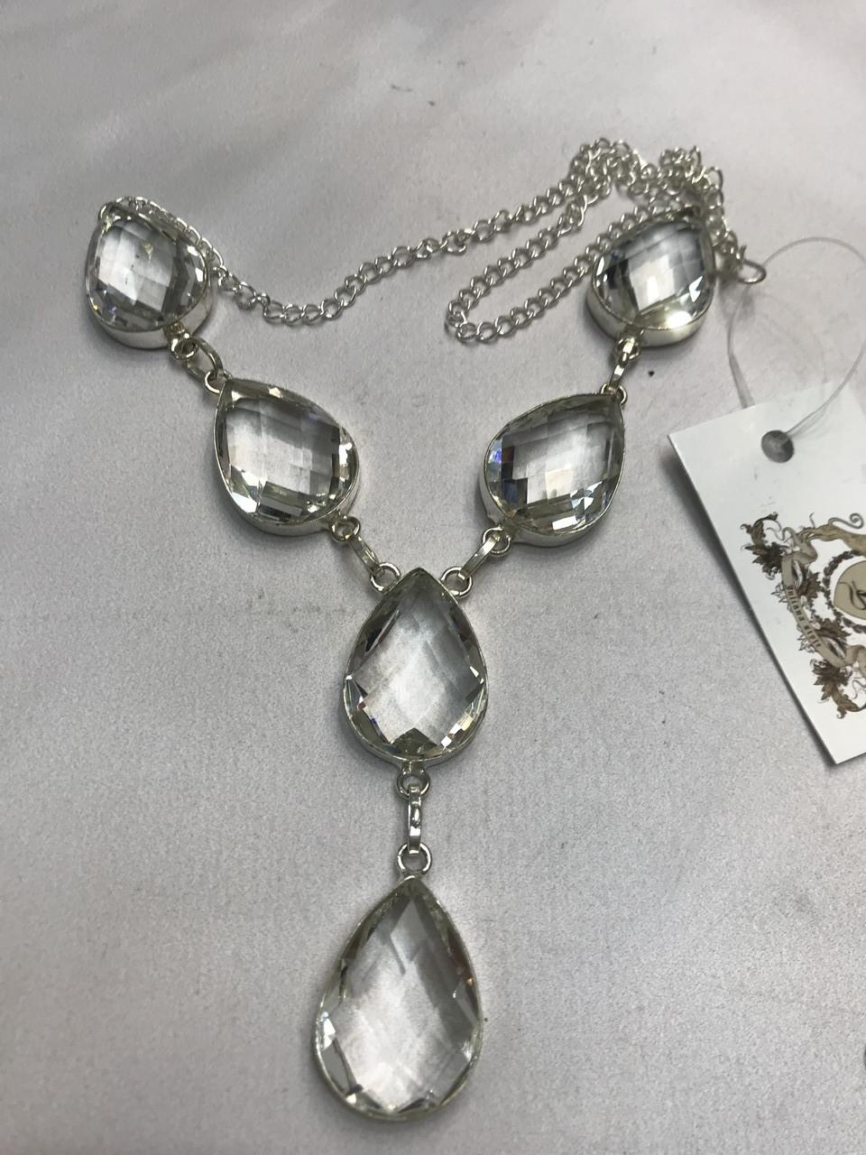 Горный хрусталь ожерелье колье с горным хрусталем. Индия!