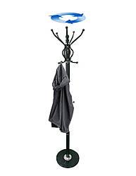 Вешалка для одежды напольная 1.8 м Коричневая с мраморной основой, стойка для одежды   вішалка для одягу (GK)