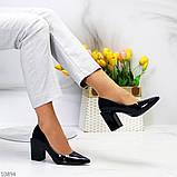 Женские туфли на широком квадратном каблуке серые бежевые черные, фото 3