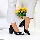 Женские туфли на широком квадратном каблуке серые бежевые черные, фото 4