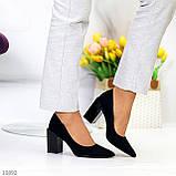Женские туфли на широком квадратном каблуке серые бежевые черные, фото 7