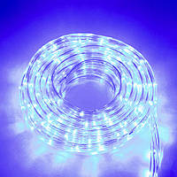(GIPS), Дюралайт гірлянда для вулиці на 8 метрів, Синя, LED гірлянди для будинку | новогодняя гирлянда на улицу