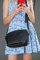 Сумка женская. Кожаная сумочка Майя, кожа Grand, цвет Черный, фото 2