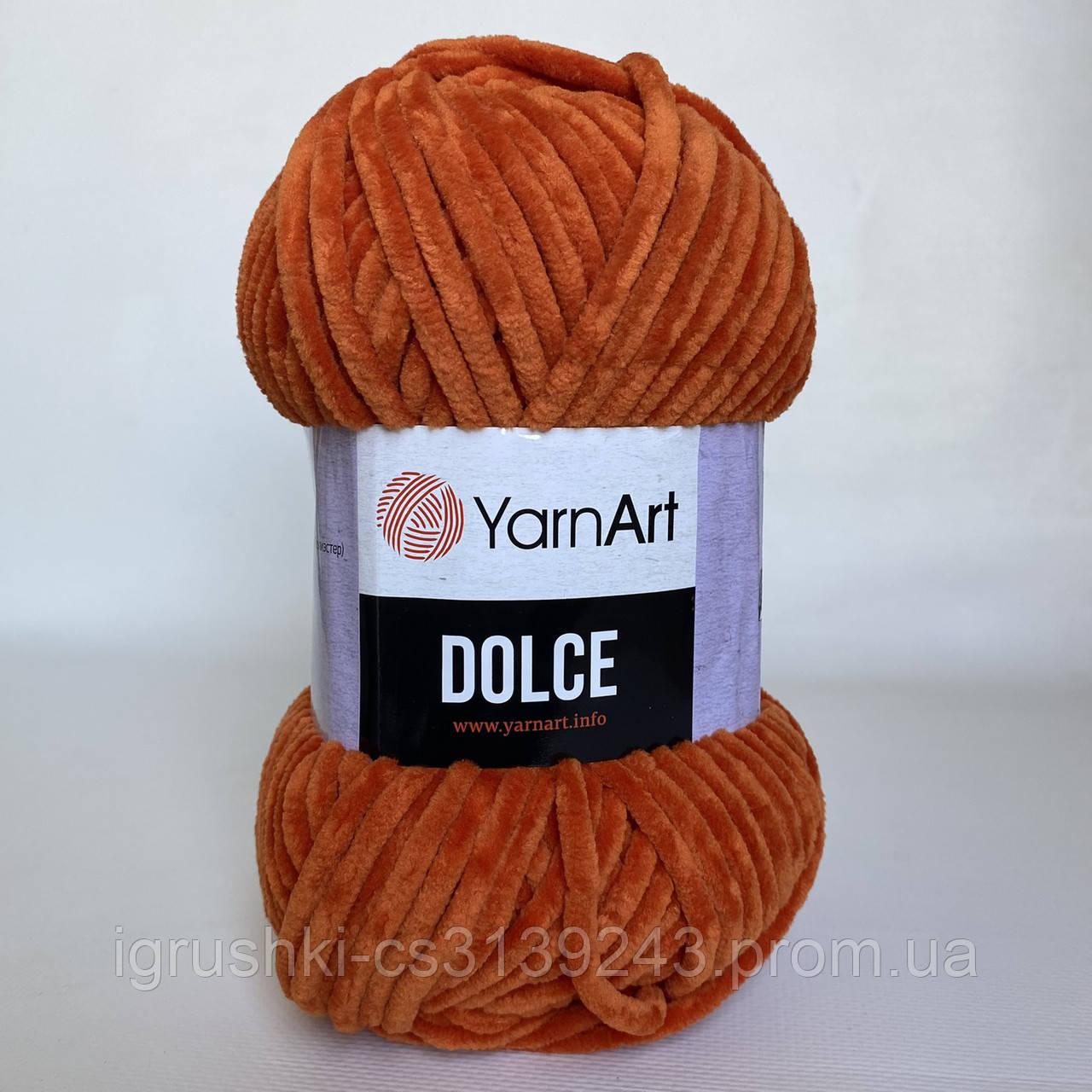 Плюшевая пряжа YarnArt Dolce 778 (ЯрнАрт Дольче) Кирпичный