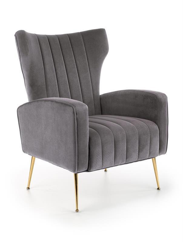 Кресло VARIO серое бархат (Halmar)