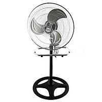 Мощный бытовой электро-вентилятор 2в1 напольный + настольный Bitek BT-1882 для дома и офиса (GIPS), Охлаждение