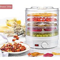 Дегидратор сушарка для овочів та фруктів з терморегулятором 350 Вт (GIPS)